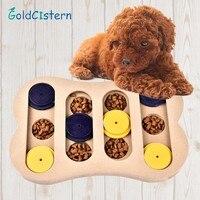 Hunde puzzle spielzeug knochen Holz spaß fütterung multifunktionale Interaktive hund spielzeug für katzen futterautomat pädagogisches