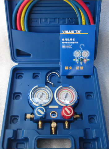 ФОТО fluoride table VMG-2-R410A-B frequency conversion air conditioning table refrigerant refrigerant pressure gauge