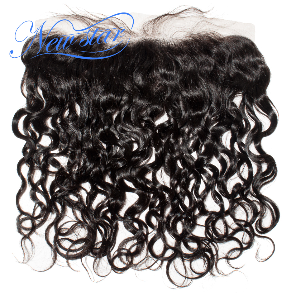 New Star Hair Pre Plucked 13x4 Lace Frontals Free Part Closures Natural Wave Brazilian Virgin Human