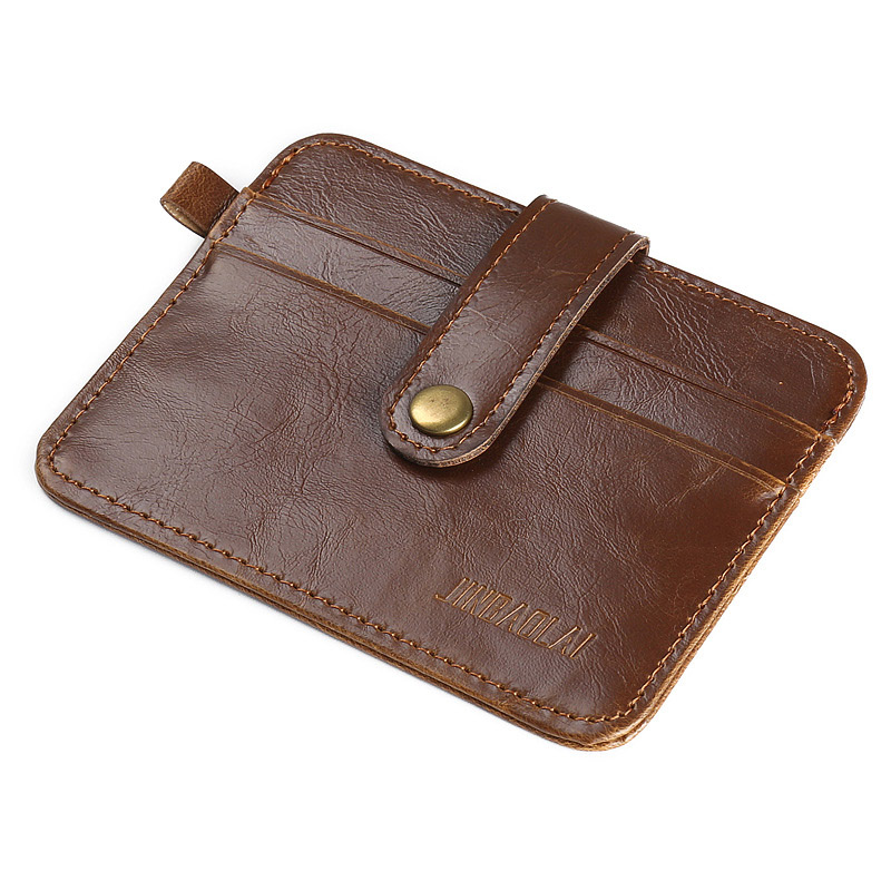 JINBAOLAI Slim Leather Men Wallet Minimalist Designer Male Purse Brand Vintage Card Wallet for Money Carteira -- BID070 PM30