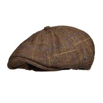 VOBOOM caliente vendedor tapas de los hombres de lana Tweed Boina Gatsby de  conducción plana sombrero de taxista Casual Boina 188 60c3cf67c6e