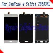 جديد كامل شاشة الكريستال السائل مجموعة المحولات الرقمية لشاشة تعمل بلمس استبدال أجزاء ل Asus ZenFone 4 Selfie ZB553KL X00LD X00LDA