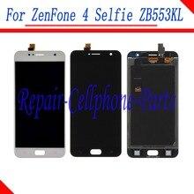 Yeni Tam lcd ekran + dokunmatik ekranlı sayısallaştırıcı grup Için Yedek parçalar Asus ZenFone 4 Selfie ZB553KL X00LD X00LDA