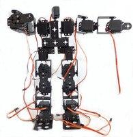 17DOF Biped Роботизированная Обучающие робот гуманоид робот комплект сервоприводов кронштейн с пульта дистанционного управления робот аксессу