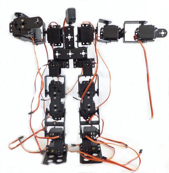 17DOF Biped Robotic Educational Robot Humanoid Robot Kit Servo Bracket with Remote Controller F17327