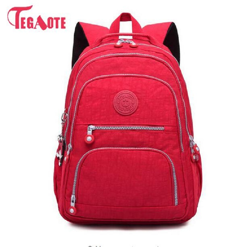 School-Backpack Nylon Teenage-Girl Waterproof Casual Female Women for Mochila Feminina