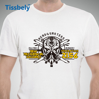 Tissbely Casual Robot Men T Shirts Robot Warrior Future 2156 Anti Wrinkle Soft Fabric Graphic Tees