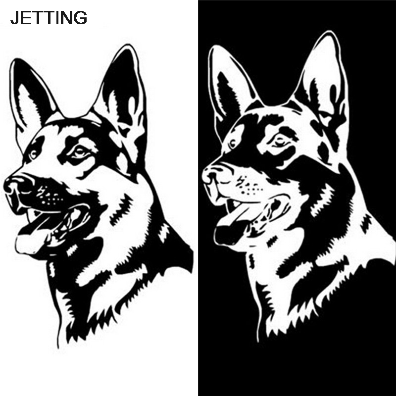 Jetting 1 Pcs German Shepherd Dog Car Stickers Personality Vinyl