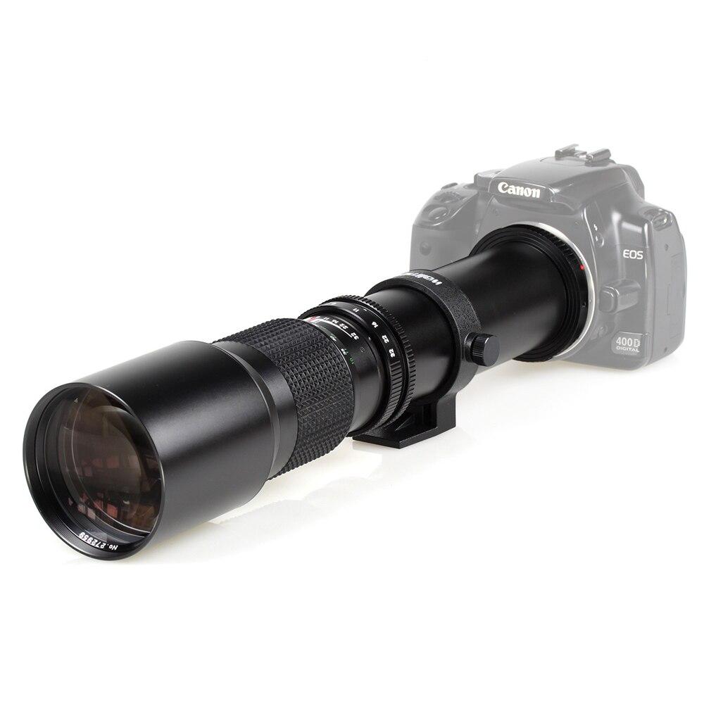 500mm f / 8.0 카메라 망원 렌즈 + T2 마운트, Canon Nikon Sony Olympus 카메라 DSLR