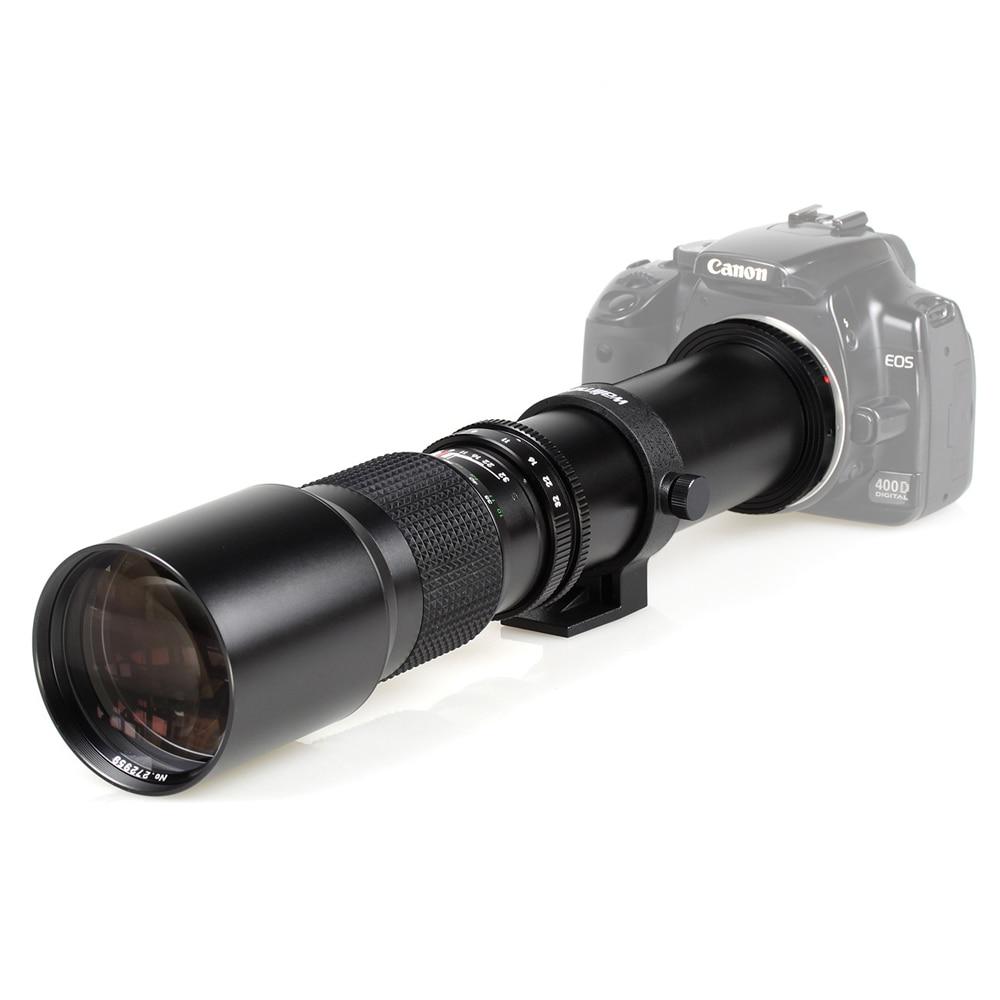 500mm f/8,0 Kamera Teleobjektiv + T2 berg für Canon Nikon Sony Olymp DSLR Kamera