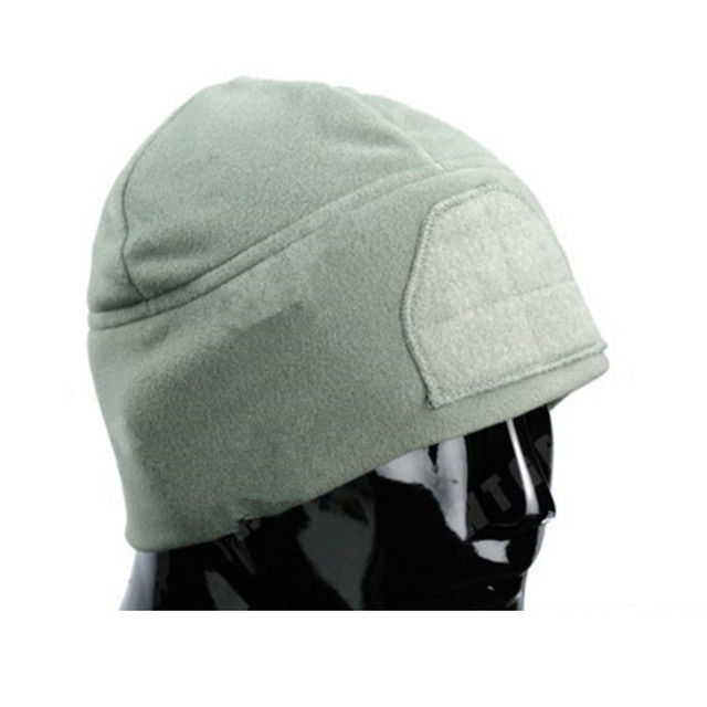 New out doorUnisex Casual Solid Color Hip-hop Skullies Bonnet Cap Winter Fashion fleece Cap with Front velcro warm fleece hat