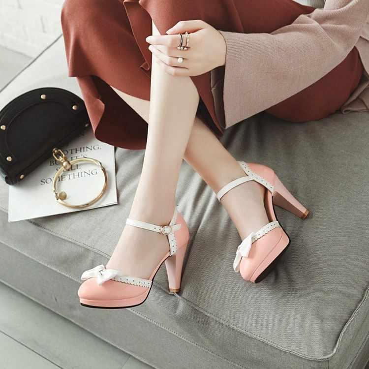 Büyük Size11 12 13 14 15 16 17 yüksek topuklar sandalet kadın ayakkabı kadın yaz bayanlar Baotou Tatlı Peri Rüzgar kelebek Düğüm Kemer Ayakkabı