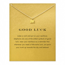 Игристые повезло ключицы гальваническим золота себе слон цепи ожерелье изделия ювелирные