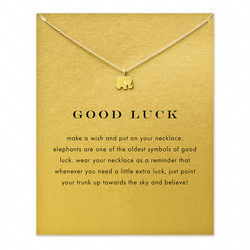 Hot sale sparkling good lucky elephant pendant necklace gold color plated clavicle chains statement necklace women.jpg 250x250