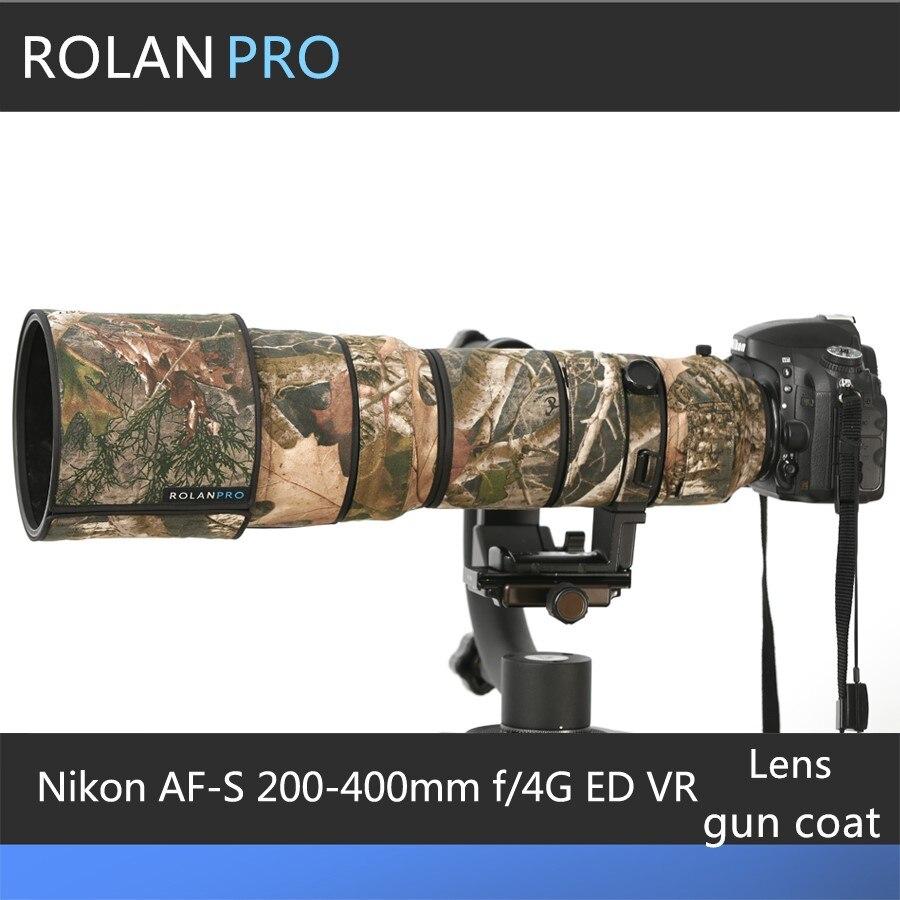 ROLANPRO Camera Lens Coat Camouflage For Nikon AF S 200 400mm f 4G ED VR Lens