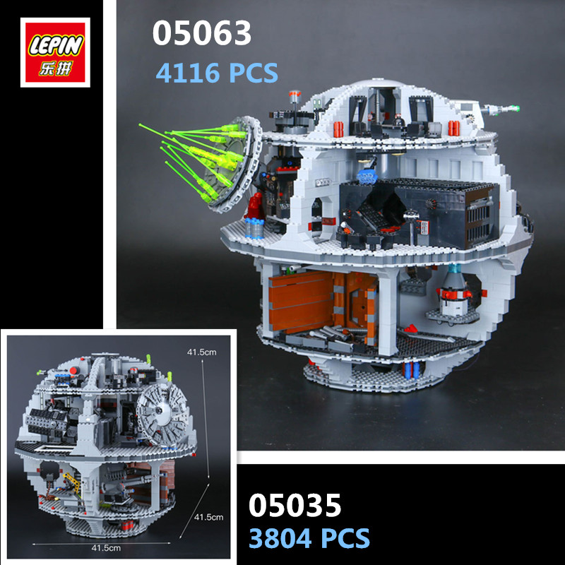 IN STOCK LEPIN 05063 4116pcs 05035 3804pcs STAR Force Waken UCS Death Wars model Building Blocks Bricks Toys  Gifts 75159 10188 lepin 05035 star wars death star limited edition model building kit millenniums blocks puzzle compatible legoed 75159