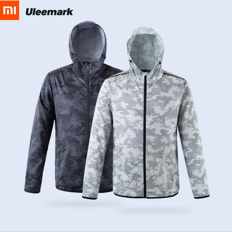 Xiaomi ULEEMARK light Sunscreen Clothes Fashion Camouflage Couple Models Windbreaker Quick drying Jacket Sports trench coat