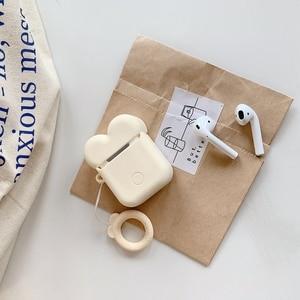 Image 4 - Cute Cartoon etui na słuchawki dla Airpods 2 okładka miękkiego silikonu szczupła osłona na słuchawki dla Airpods 1 przypadku torba ochronna pasek przypadki