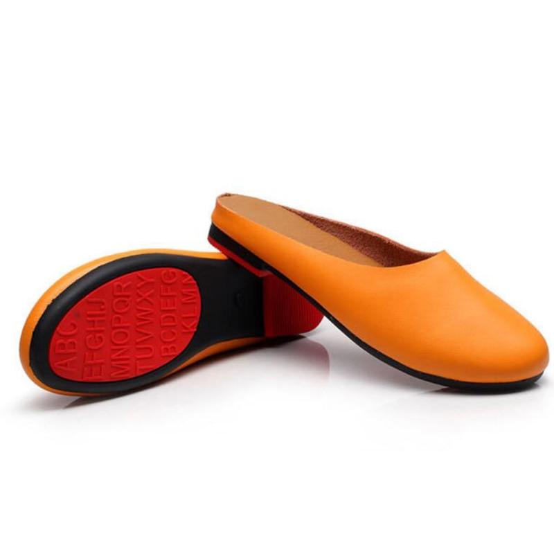 Plein 3 Plates K46 Pantoufles 43 2 4 Cuir Main 6 5 En Véritable 34 Air Femmes Non À La Pois Chaussures Plus Taille Casual slip 1 Mode g6wUCg