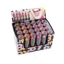 Помады для макияжа, 24 шт., 6 цветов, красный, розовый, разноцветная помада, губная помада, сетка, 2,3 г, H119