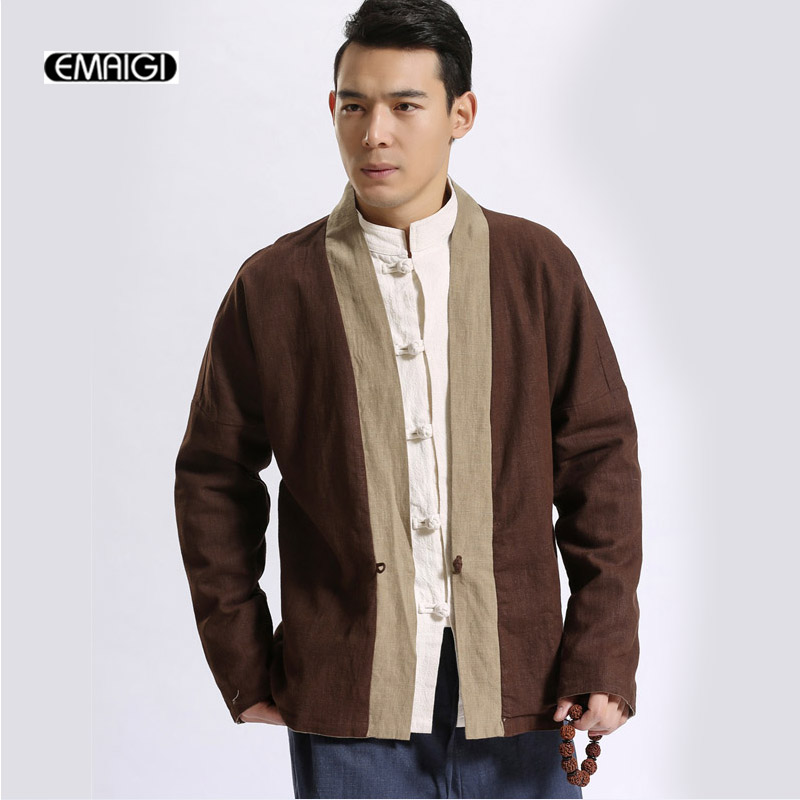 Double Side Wear Mens Jacket High Quality Linen Kimono Cardigan ...