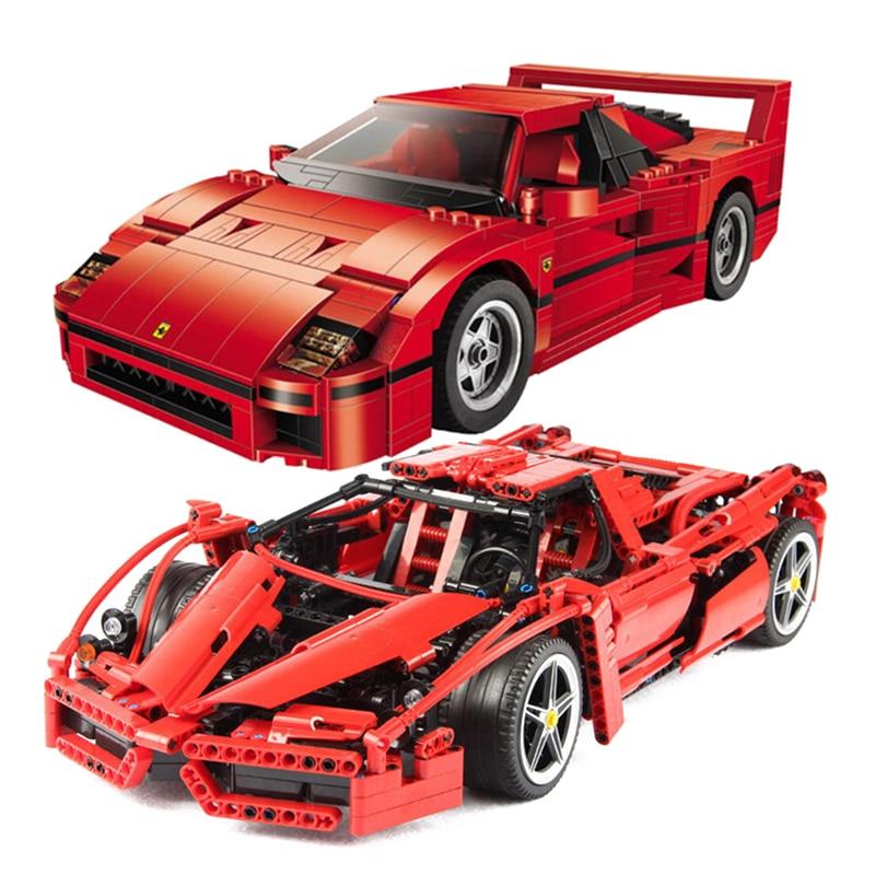 NEW Technic MOC Set Bricks 21004 Ferrarie F1 F40 Enzo