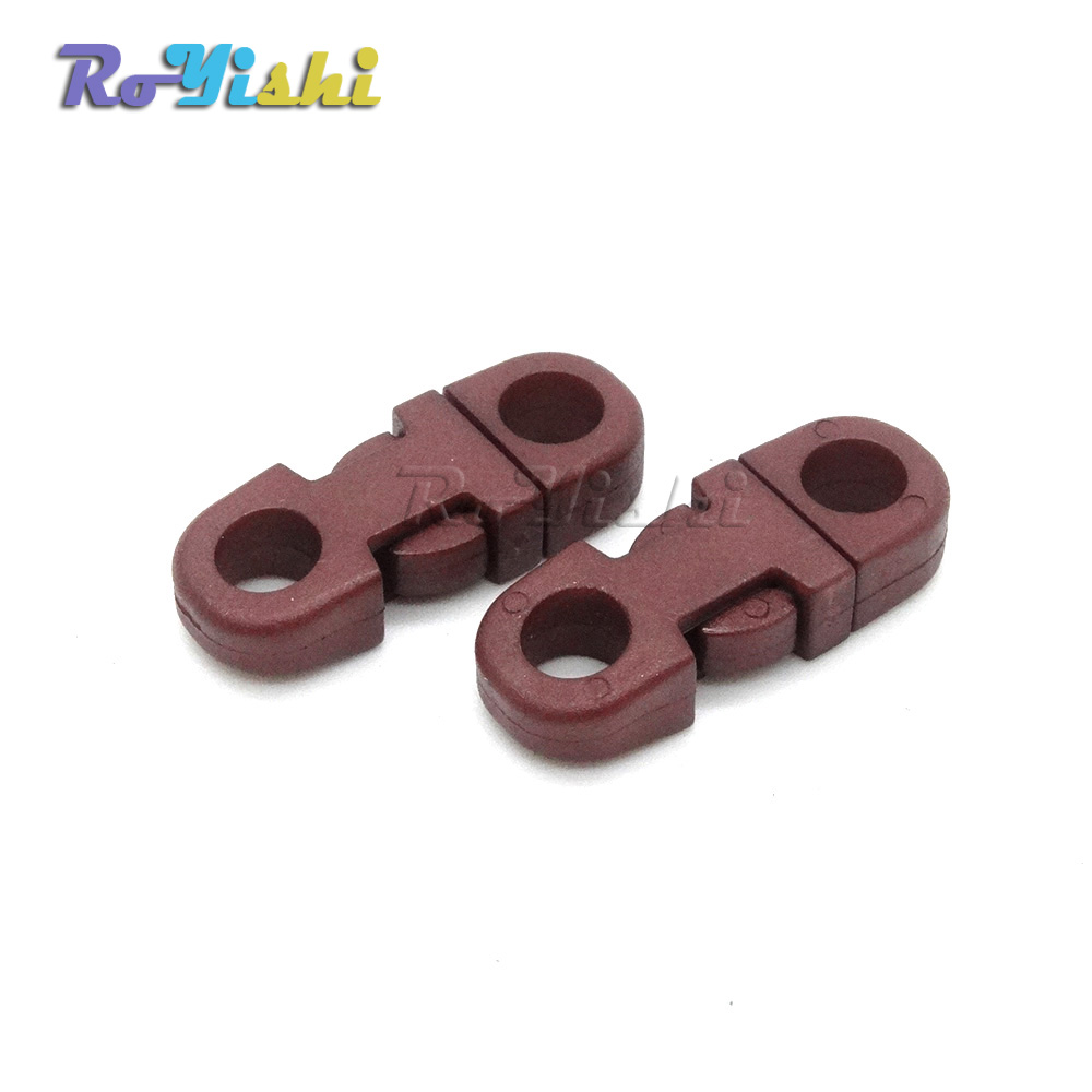 12pcs Colorful 5mm Hole/'s DIA Straight Flat Side Release Buckles For Paracord