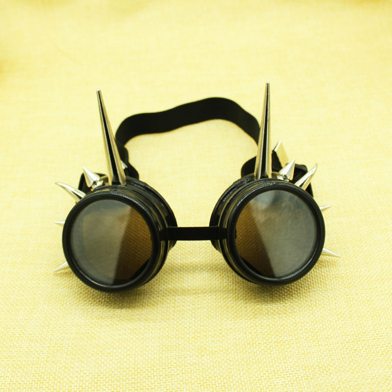 fce3f9eae4ef Cyber Goggles Steampunk Vintage Retro Welding ... Mirror lens Round Glasses  Cyber ... The frame made of high quality hard coated plastic