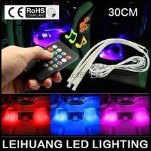 Автомобиль RGB LED Strip Light Music Control СВЕТОДИОДНЫЕ Полосы света 7 Цветов Стайлинга Автомобилей Атмосфера Лампы Салона Свет С пульт дистанционного управления