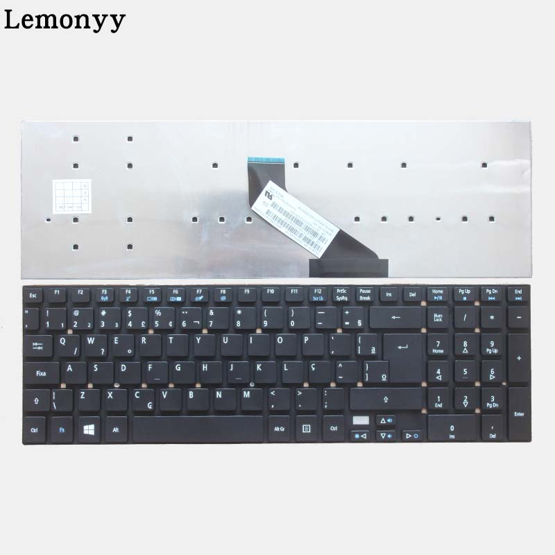 Image 2 - NEW Brazil/BR Laptop Keyboard for Acer Aspire E5 511 E5 511 P9Y3 E5 511G E1 511P E5 521G E5 571 E5 571G ES1 512 ES1 711 ES1 711G-in Replacement Keyboards from Computer & Office on