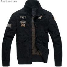 Asstseries Men's jackets Autumn And Winter jacket Military Aviation Decorative embroidery flight air force one Men's Clothing