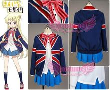 Kiniro Mosaic Karen Kujo Uniform Girls Jacket Shirt Skirt Tie Anime Halloween Cosplay Costumes For Women Custom Made
