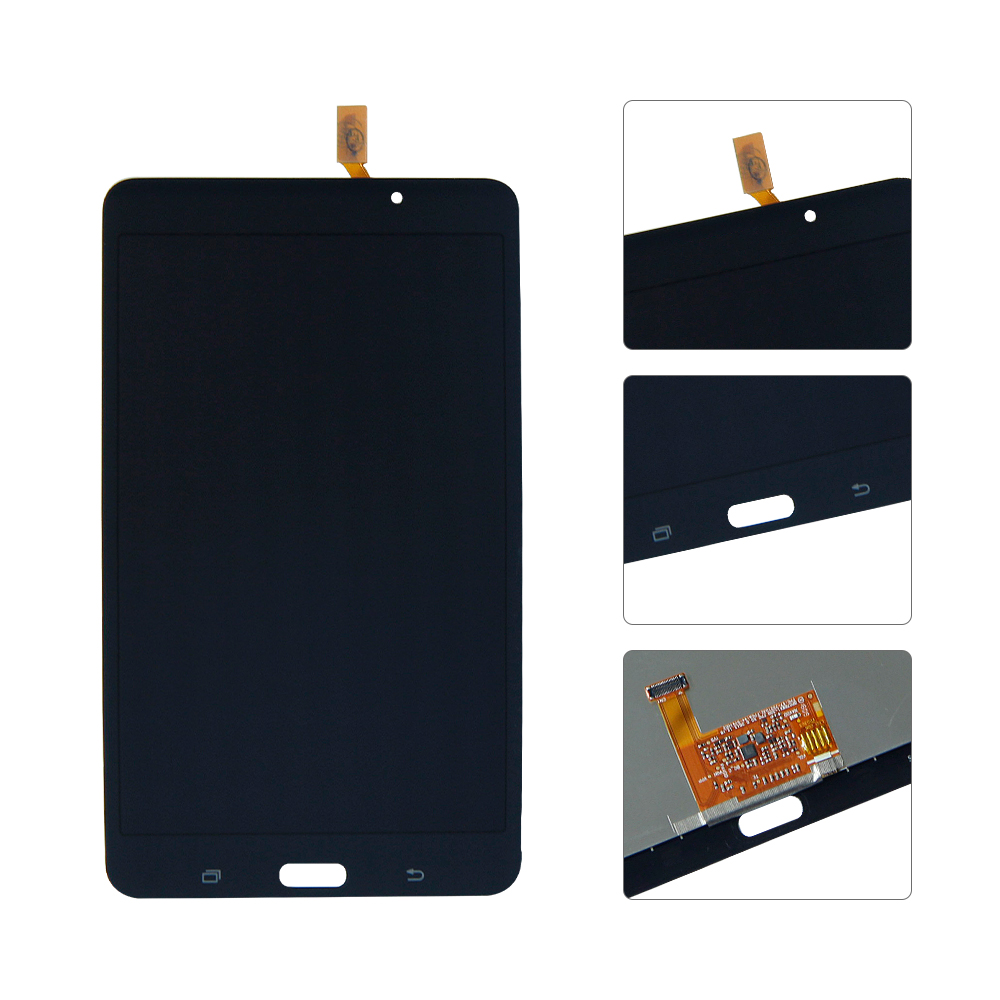 7.0'' Black color For Samsung Galaxy Tab 4 SM-T230 SM T230 LCD Display Touch Screen Digitizer Assembly Replacement new tablet pc lcd screen bp070wx1 300 for samsung galaxy tab 4 7 0 t230 t231 lcd screen display panel free shipping