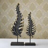Изделия из смолы сад пастырской личности abstract Leaf украшения, праздничный свадебный подарок, поставляют