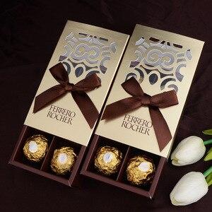 Image 5 - 20 قطعة من علب هدايا الزفاف من فيريرو روشر حقائب هدايا جميلة مستلزمات حفلات استحمام الطفل فيريرو صندوق حلوى للشوكولاتة