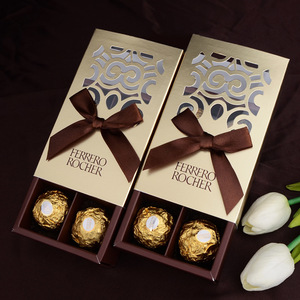 Image 5 - 20pcs FERRERO ROCHER Boxes Wedding Favors Sweet Gifts Bags Party Supplies Baby Shower Ferrero Chocolate Candy Box