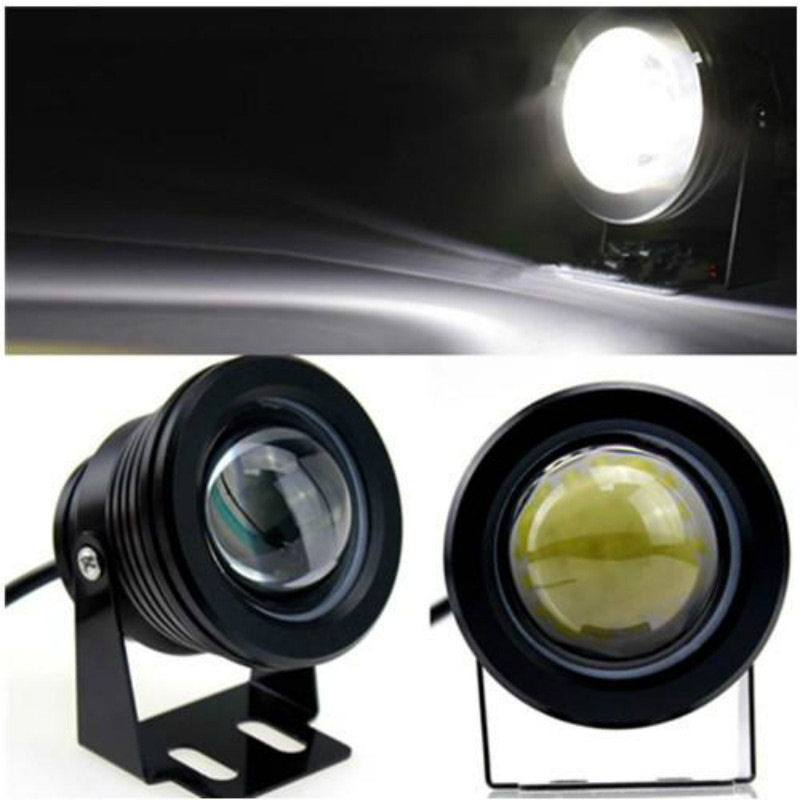 JURUS Universal Waterproof 10W Car Motorcycle LED COB Driving Round Fog Lamp Work Head Light Headlight Daytime Running Light