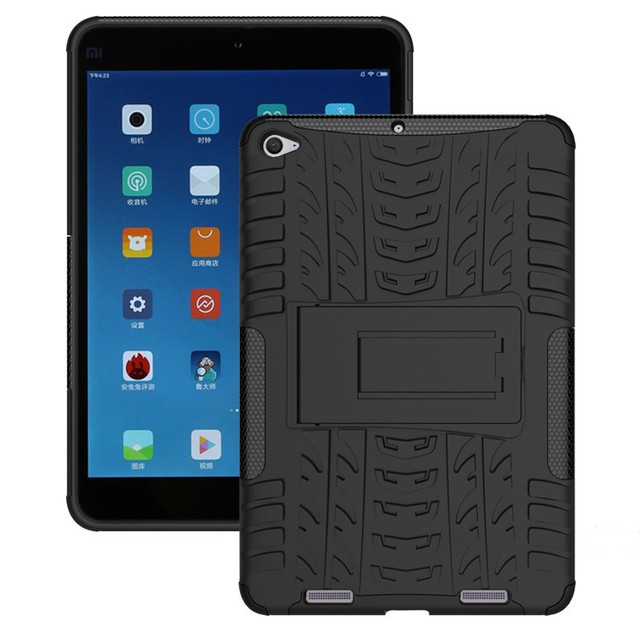 """Tire Style Tough Rugged Dual Layer Hybrid Hard KickStand Duty Armor Case For Xiaomi Mi Pad MiPad 2 7.9"""" Tablet Case with Stand"""