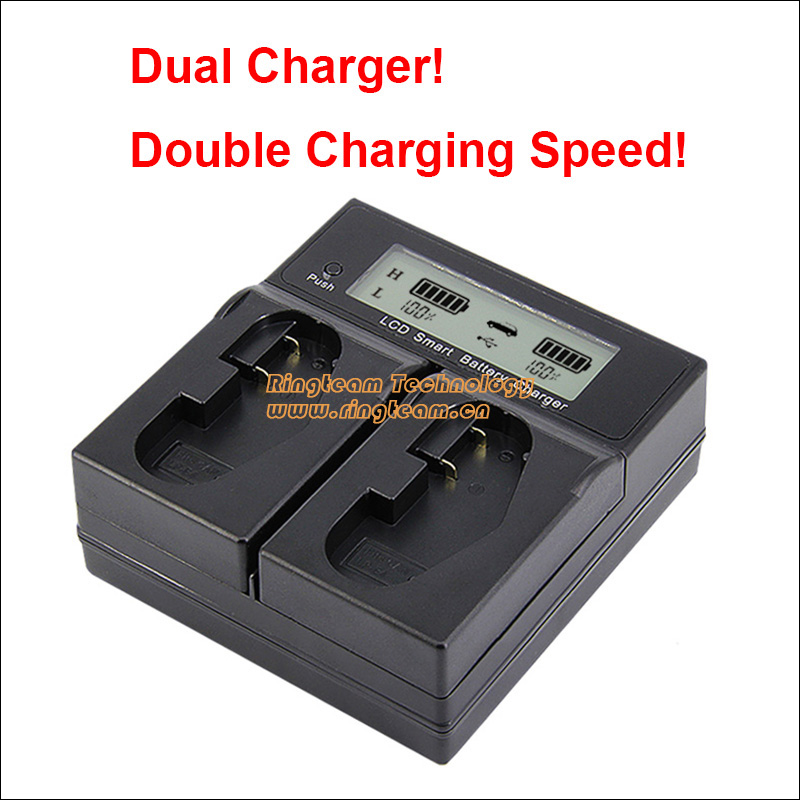 Quick Dual Charger with LCD Sreen for LP-E4 LP-E4N LPE4 Batteries Fit for Canon 1D Mark III DSLR 1D X EOS-1D X Digital Cameras phil collins singles 4 lp