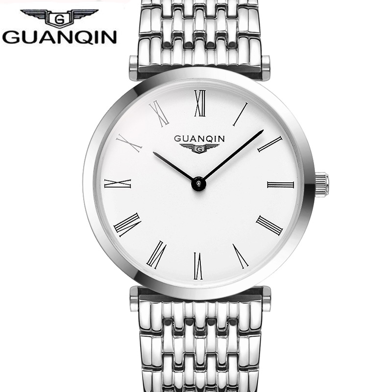 Relojes mujer Brand GUANQIN women Watches Fashion Casual Quartz Watch Clock full stainless steel wristwatch relogio feminino guanqin quartz watches fashion watch women dress relogio feminino waterproof tungsten steel gold bracelet watches relojes mujer