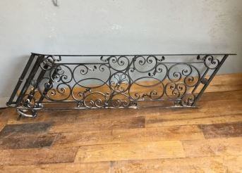 Iron Deck Railing Iron Handrails Outdoor Wrought Iron Stair | Outdoor Iron Stair Railing | Porch | Iron Pipe | Commercial | Galvanized Iron | Redwood