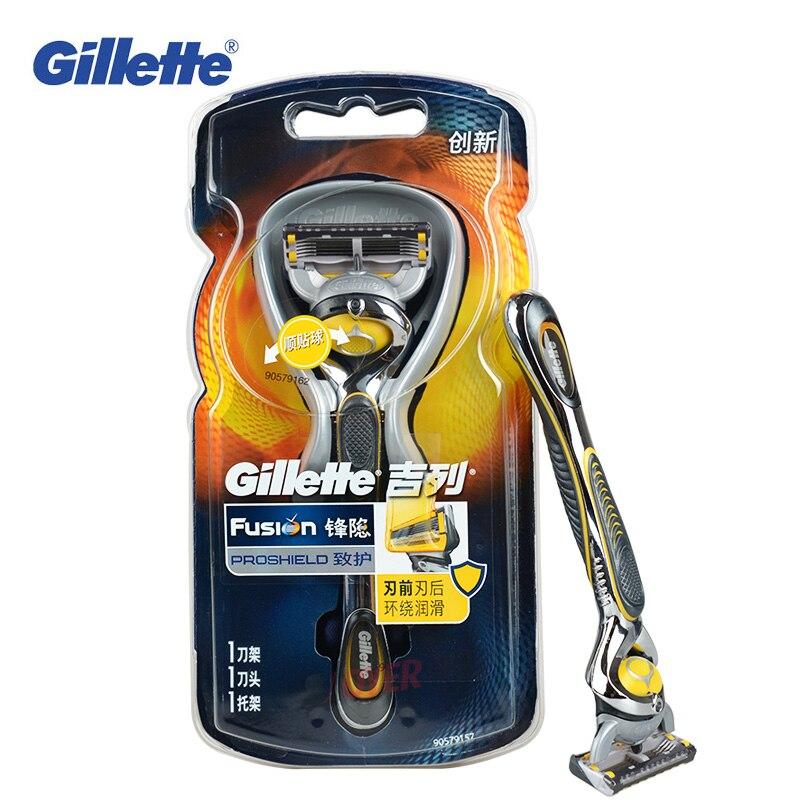 New Arrival Gillette Fusion Proshield Flexball Shaving Razors 1 Razor Holder 1 razor blade For Men Face care Male Shave Shaver