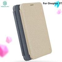 OnePlus 5T Case NILLKIN Sparkle PU Leather Flip Cover Smart Wake UP Window Smart View Window