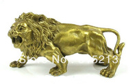 wang 00074 Nice Bronze Brass Statue figurine LION 5.5'long