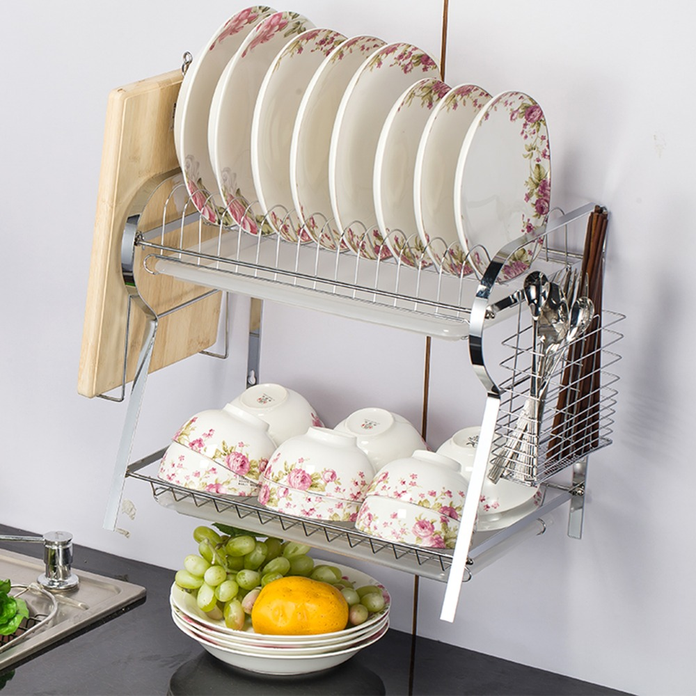 Wall Mounted R Shaped Dish Drainer