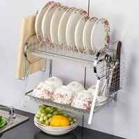 Wall Mounted Dish Drainer Dryer For Cutlery Cutting Boards R Shape Dish Rack Shelf For Kitchen Organizer For Drying Dishes