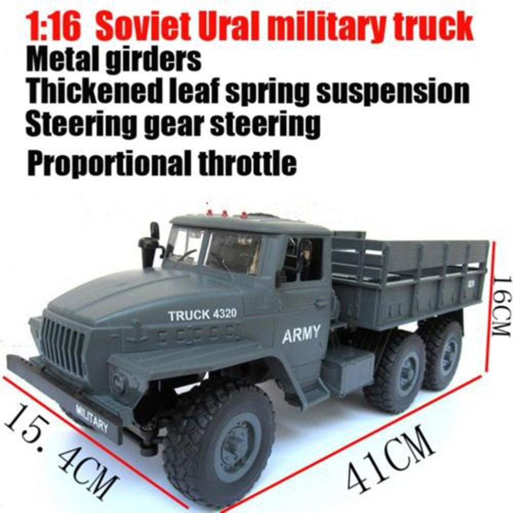 1:16 Soviet Ural Military Remote Control Truck RC Army Truck Electric Remote Control Truck Toy Kids Birthday Christmas Toy