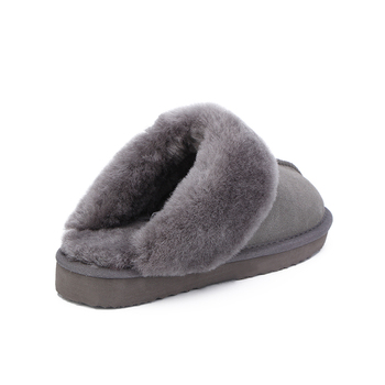 HABUCKN Natural Fur Slippers Fashion Female Winter  Slippers Women Warm Indoor Slippers Quality Soft Wool Lady Home Shoes 4