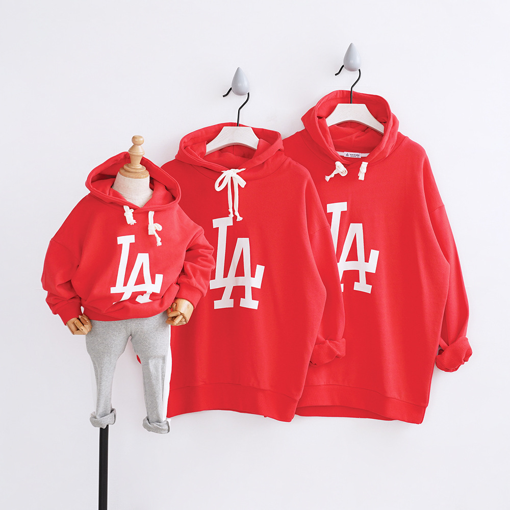 Couple T-Shirt Matching Shirts Family Hooded Outfit Matching Family Clothing Mother Daughter Hoodies Kids Cotton Shirts CA201 spring outfits for kids