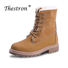 2018 Ladies Working Safety Boots Black Boots Fur Woman Boots Outdoor Rubber Sole HighTop Shoes Female Winter Non Slip Boots цены онлайн